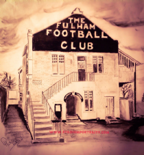 Fulham Craven Cottage box canvas 20'' x 22''